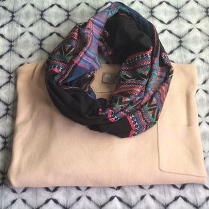 Mexican Embroidered Infinity Scarf